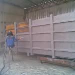Абразивоструйная обработка поверхности металлоконструкции перед нанесением химически стойких эмалей
