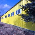 Быстромонтируемое здание цеха по прозводству металлопластиковых окон  (можно испольховать как склад, хранилище, коровник)