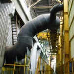 Вентиляционная система из полимерных материалов. Предназначена для выброса в атмосферу агрессивных веществ