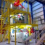 Площадка для технологического оборудования по переработке зерна