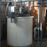Резервуар-накопитель гальванических стоков. Укомплектован КИП, перекачивающим оборудование и запорной арматурой, АСУ ТП